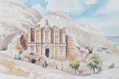 Rock Monastery, Petra, 1996