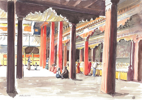 Jokhang Temple interior, 1988