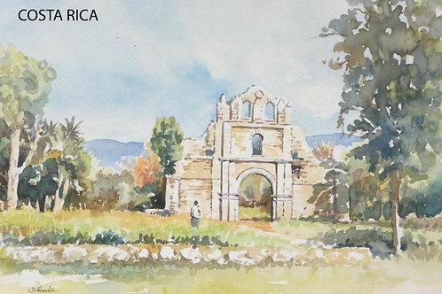 Ruined monastery near Cartago, 1976