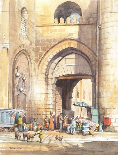Al-Moayyed Mosque entrance, Cairo,