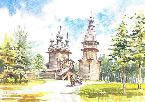 Wooden church in woods near Arkhangelsk, 2003