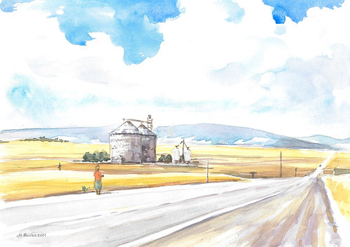 Country road near Waterville, 2001