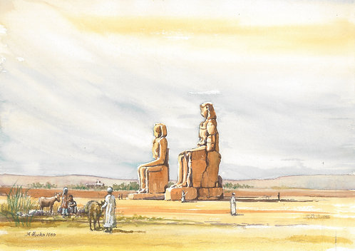 Colossi of Memnon near Luxor,