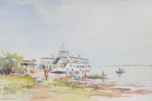 Ferry at Yaji on Lake Volta, 2004