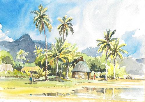 Village on Ovalau, 1987