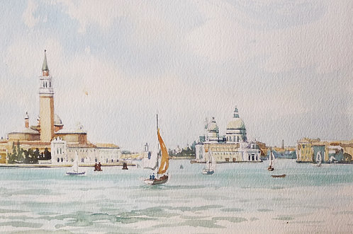 Venice from lagoon, 1989