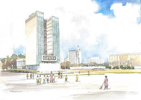 Independence Square, Tashkent, 2001