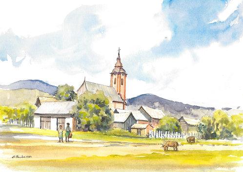 Small village close to the Slovak border, 1989