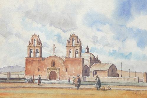 The Church of Guaqui, Altiplano, 1971