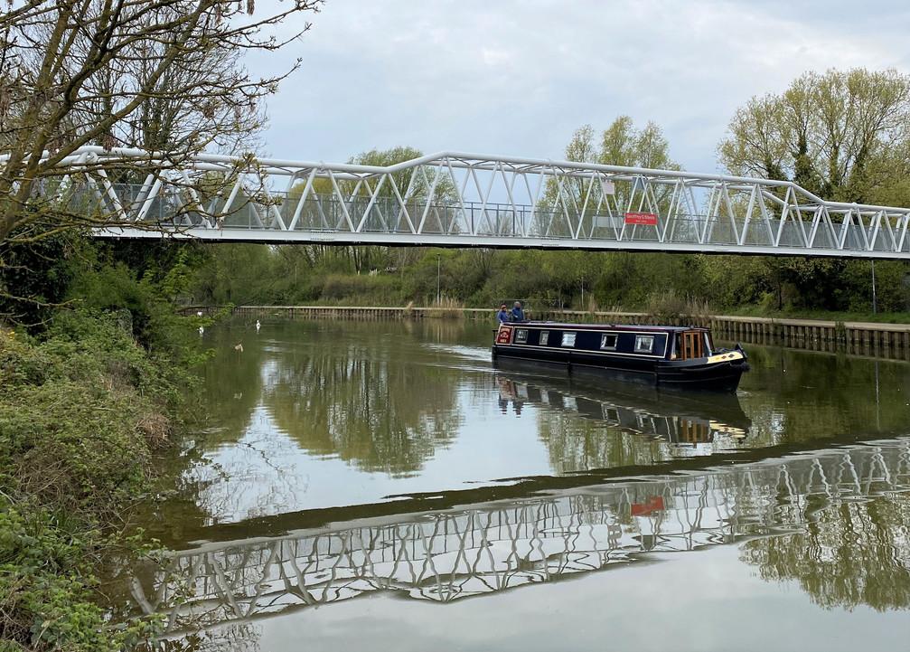 The Geoffrey G Steels Footbridge over the River Nene in Peterborough