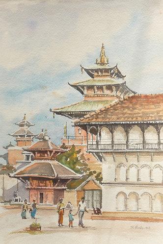 Historic central Kathmandu, 1968