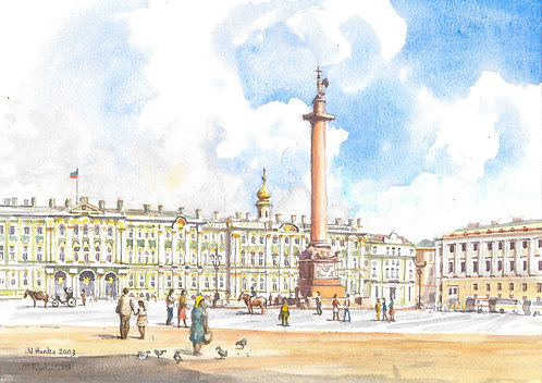 The Winter Palace and Alexander's Column, St. Petersburg, 2003