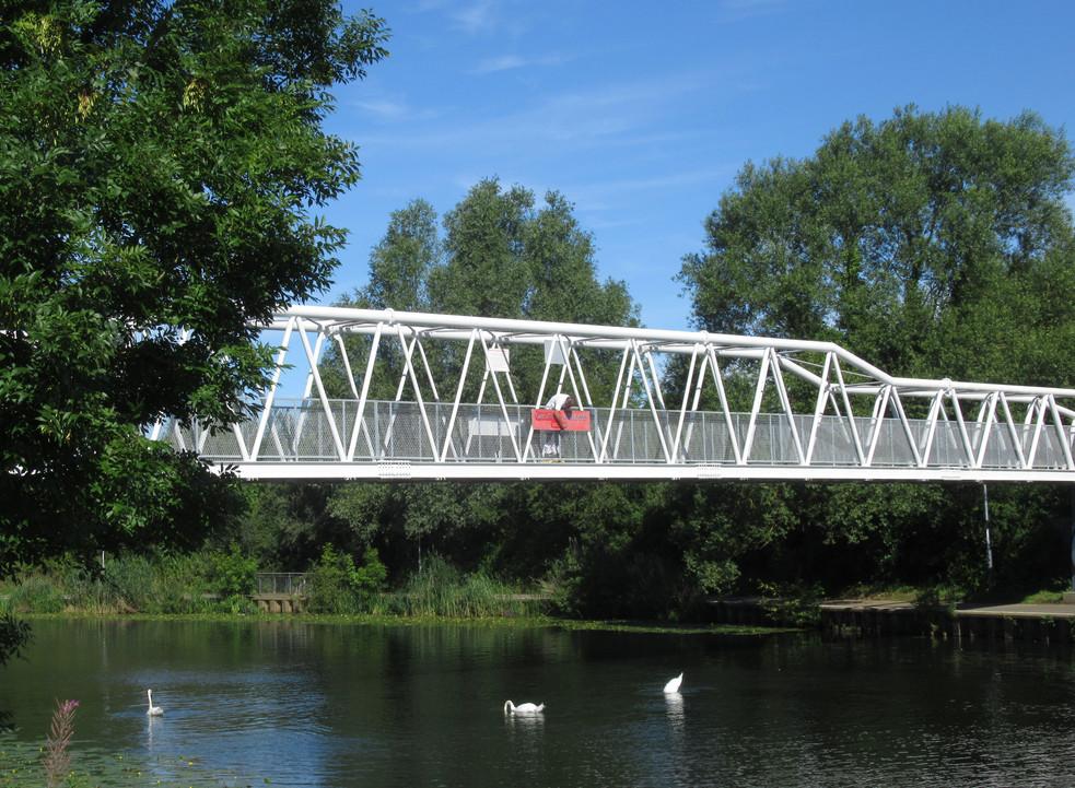 The Railworld Wildlife Haven bridge paid