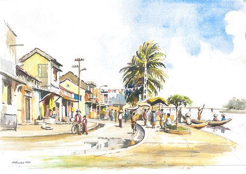 Riverside street of Hoi An, 1999
