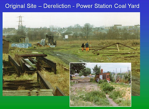 Pic 2 a - Old derelict power station sit