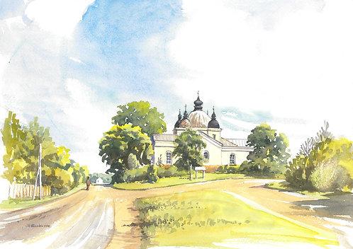 Karja church at Leisi, Saaremaa Island 1998