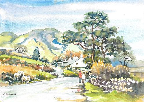 Buttermere hamlet, Cumbria, 2012