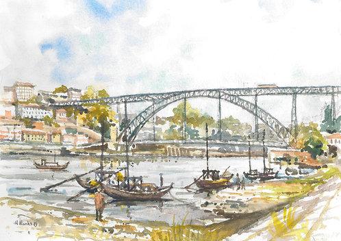 The Dom Luís I Bridge at Porto, 2019