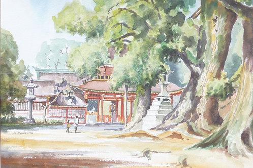 Temple on Kyushu Island, 1975