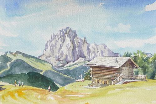 Above Santa Cristina in the Dolomites