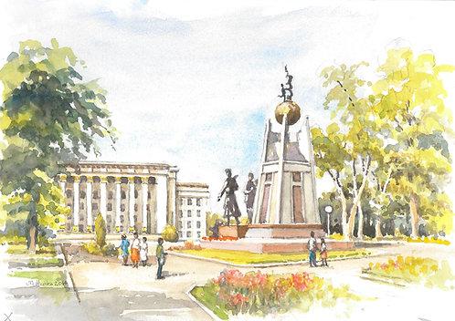 Astana Square, Almaty, 2014