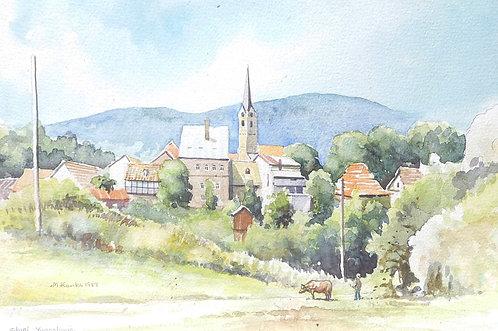 Small town of Slunj, 1989