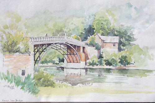 Coalport Bridge, Shropshire, 1989