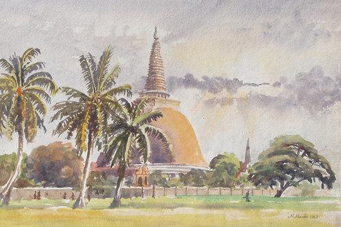 Buddhist Stupa at Nakhon Pathom, 1968