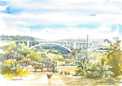 The Friendship Bridge over the Paraná River, 1971