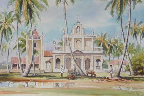 Church on island near Negombo, 1979