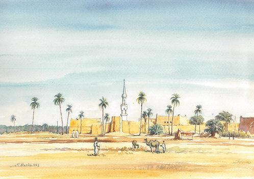 Small town of Al Majma'ah, 1983