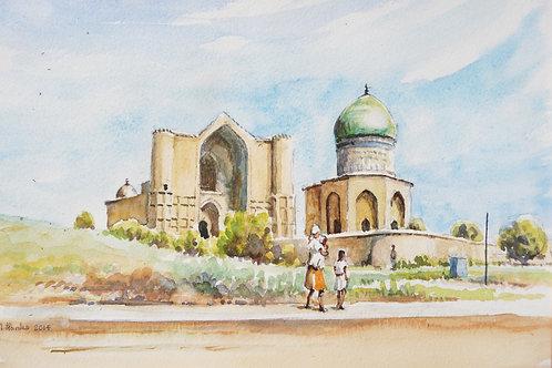 Mausoleum Rabigha Sultan, Turkistan, 2014