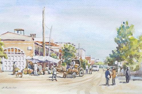 Tabriz main street, 1968