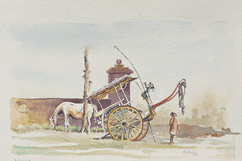 Horse and cart, Java, 1968