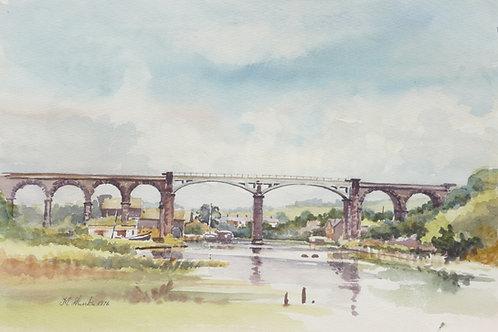 Frodsham Bridge over River Weaver, 1976