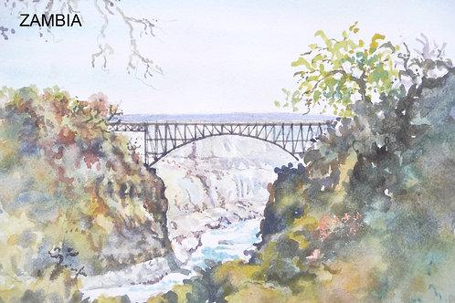 Bridge over the Zambezi River, Victoria Falls, 1981