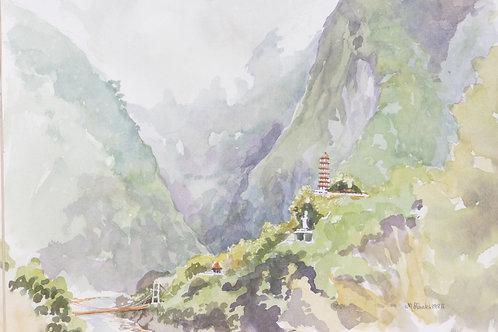 Tien-Hiang Buddhist Pagoda, Taroko Gorge, 1985