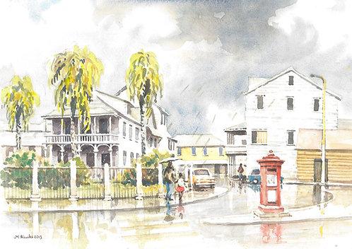 A rainy day in Paramaribo