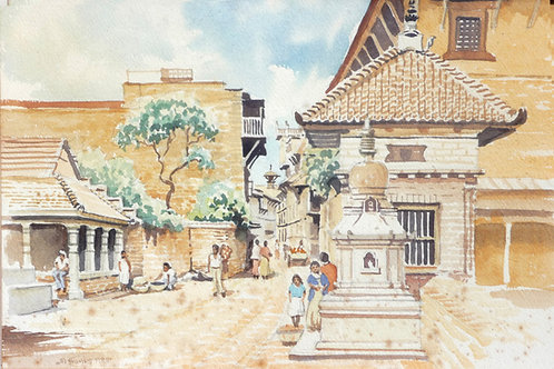 Back street in Bhaktapur, 1988