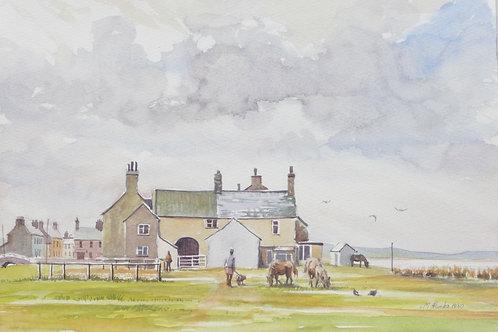 Allonby Village, north-west coast, 1980