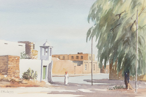Small back street mosque in old Taif, 1983