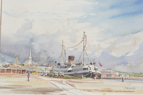 The Manxman at Preston Docks, 1993
