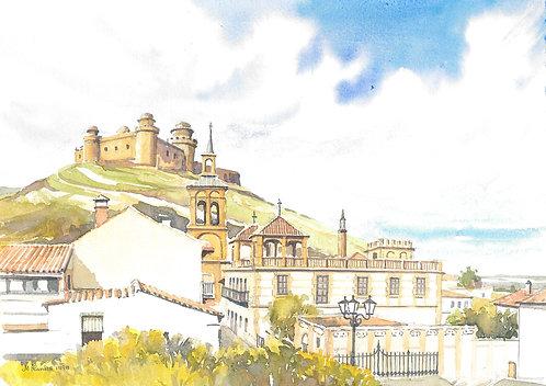 La Calahorra Castle from town, 1998