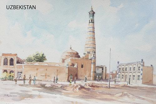 Minaret and madrassah of Islam-Khodja, Khiva, 2001