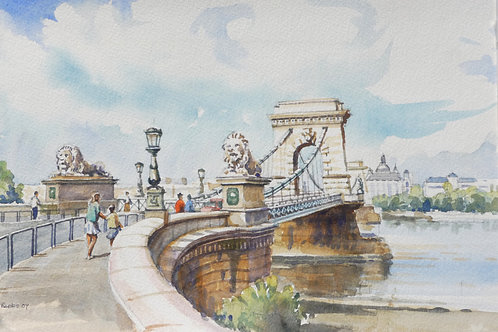 The Széchenyi Chain Bridge, Budapest, 2007