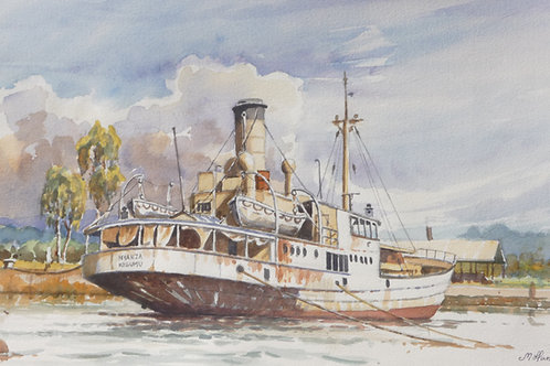 SS Nyanza an old steam ship at Kisumu, Lake Victoria, 1977