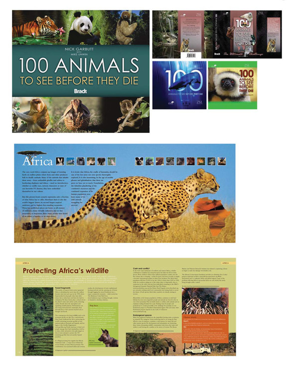 Bradt Publishing – 100 Animals To See Before They Die, book series including Bizarre Animals and Invasive Species