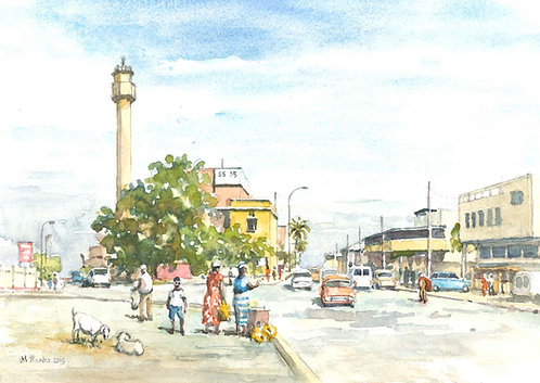 Bouaké city centre, 2019