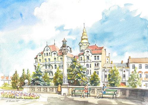 Art Nouveau buildings in Oradea, 2007