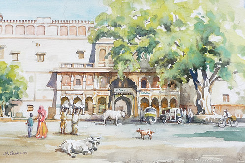 Small square in old Jaipur, 2009